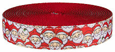 Country Brook Design® 1 Inch Where's Merry on Red Nylon Webbing, 10 Yards