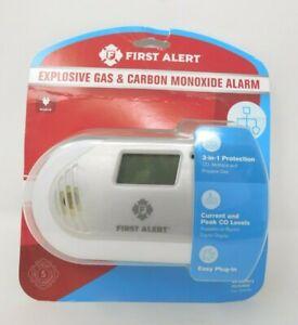 First Alert Explosive Gas & Carbon Monoxide Alarm * 3 in 1 * Plug-In * FREE SHIP