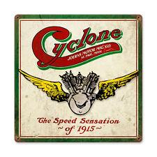 Cyclone joerns Motor Company Racer motocicleta estados unidos retro sign chapa escudo Escudo