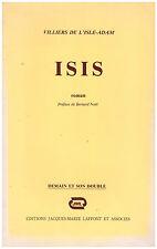 VILLIERS DE L'ISLE-ADAM - ISIS - 1979