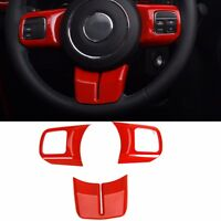 Red Steering Wheel Cover Trim fit Jeep Grand Cherokee Wrangler Compass Patriot