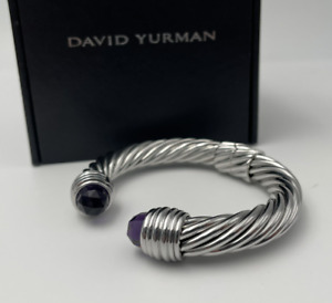 DAVID YURMAN 10MM bracelet cable opens with 925 sterling silver with Amethyst