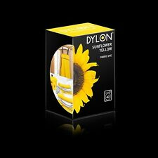 Dylon SUNFLOWER YELLOW MACHINE DYE 200g Polyester Cotton Linen Clothes Material