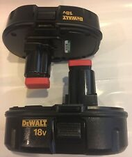 (2) NEW DeWALT DC9098 18V 18 Volt NiCd Battery Packs For DC825 DC970 DC759 DC720