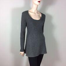 EVELYN GRACE CASHMERE Damen Pullover M L 38 40 Grau 100% Kaschmir Luxus Style