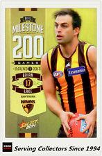 2014 AFL Champions Milestone Holofoil Card MG45 Brian Lake (Hawthorn)