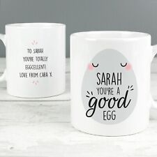 Personalised 'You're A Good Egg' Mug - Thank you Gift, Easter - Any Any Name
