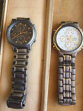 Zwei Armbanduhren Citizen Titanium Chronograph WR 100