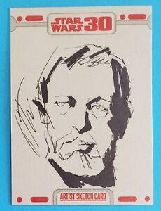 topps OBI-WAN KENOBI sketch card artist TERANISHI star wars 30TH ANNIVERSARY anh