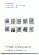 Nederland 1872 studie verschoven perforaties
