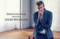 "MEN`S NEW H&M DENIM JACKET BY DAVID BECKHAM SIZE LARGE 42"" CHEST BNWT"
