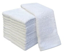 Pack of 12 White Face Cloth Towels 100% Cotton Flannels Wash Cloth