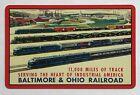 1 playing (swap) card - USA - Baltimore & Ohio Railroad [3221]