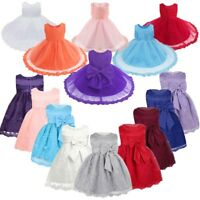 Infant Baby Girls Floral Lace Tutu Dress Wedding Party Pageant Formal Dresses