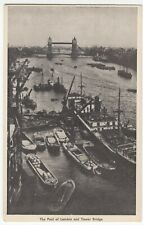London; Pool Of London & Tower Bridge PPC, Unposted, Shows Barges & Shipping