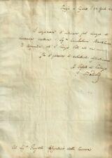 Convocazione a Palazzo Pitti Autografo Badelli Presidente Accademia Crusca 1813