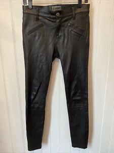 CURRENT/ELLIOTT Leather Pants Black Size 27