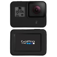 PhoneNatic GoPro Hero 5 Silikon Hülle Case Tasche in schwarz + Objektivabdeckung