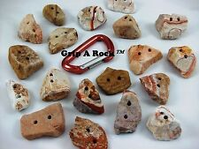 "20 Rock Climbing Hand Holds, Rock Climbing Holds, Rock Wall Holds, ""PINCH"""