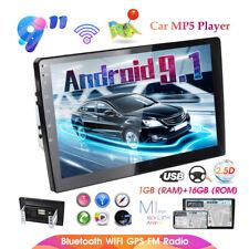 2Din Radio de coche Android 9.1 GPS Navi 9'' Bluetooth WIFI MP5 FM Enlace espejo