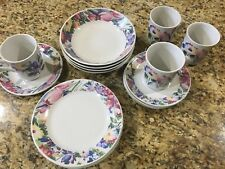 China Pearl FLORAL 16 Pc Stoneware Set (3851) Very nice!