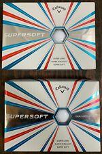 Callaway 641935412 Supersoft Two Dozen (2 x 1 Dz Boxes) Golf Balls - White **New