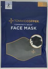 New! Tommie Copper Face Mask Unisex ~ 2 Pk Copper & Zinc Infused OS (7289)