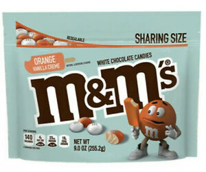M&M's Orange Vanilla Creme Cream Flavor 9oz Bag - Limited Edition, Exp 12-21