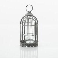 Bird Cage Home Or Wedding T-light Tealight Holder Decoration Shabby Chic Grey