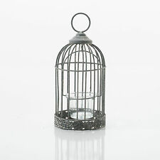 Bird Cage Home Or Wedding T-light Tealight Holder Decoration Shabby Chic Grey