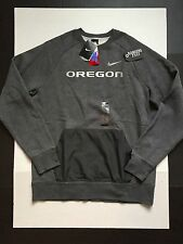 Nike Oregon Ducks Hybrid Fleece Crew Sweatshirt Grey Mens Size XL