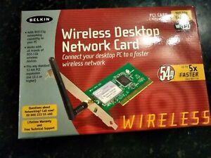 Belkin Wireless Desktop Network Card, PCI card, 2.4GHz wireless