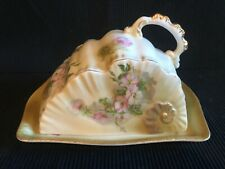VINTAGE HAND PAINTED NIPPON JAPAN COVERED CHEESE BUTTER DISH