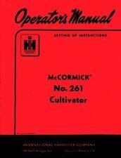 International McCormick 261 Cultivator Operators Manual