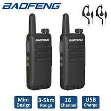 2x Baofeng BF-R5 Walkie Talkies Long Range Two Way Radio Scanner + 888S Headset