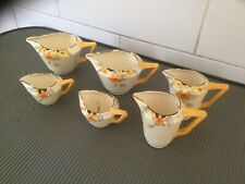 Smorgasbord Of CROWN DUCAL SUNBURST SMALL JUGS All Vfc