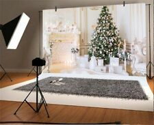 Luxury Room Christmas Tree 7x5ft Photography Backgrounds Vinyl Backdrops Props