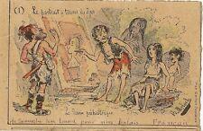 CARTE POSTALE FANTAISIE LE PORTRAIT A TRAVERS LES AGES PREHISTOIRE - B.MOLOCH