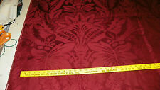 Burgundy Large Print Victorian Damask Upholstery Fabric 1 Yard  F447
