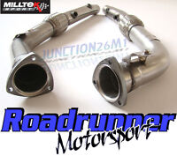 Milltek Audi RS4 B7 4.2 Decat Downpipes Stainless Exhaust SSXAU285