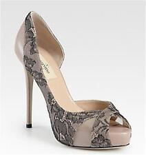 Valentino Lace D'Orsay Dorsay Platform Pumps Heels Shoes Blush Nude 38.5 $1195