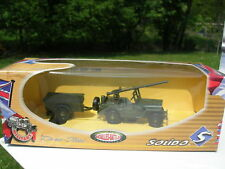 Solido 1/43 Metal militaire Jeep Willys Canon remorque 6157