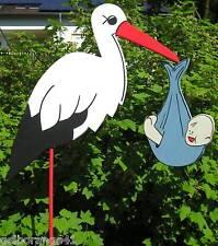 80 cm  STORCH KLAPPERSTORCH GEBURT %  TAUFE  BABY HOCHZEIT HOLZ BRUCHSICHER §