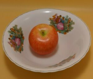 Vintage Courting Couple Serving Vege Bowl with DECALS Gold/GILT China