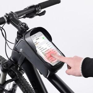 6'' Rahmentasche Fahrrad Tasche Oberrohrtasche Mountain Bike Handytasche Schwarz