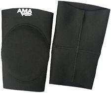 AMA Black Alternate Knee Pads Large, Wrestling Pro MMA Football Judo Jui Jitsu L