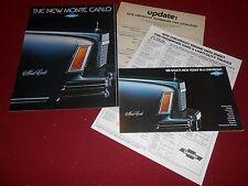1978 CHEVROLET MONTE CARLO BROCHURE + 78 CHEVY FULL-LINE CATALOG & More! 4 For 1