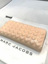 Marc Jacobs Hearts Continental Zip Around Clutch Wallet Purse Seashell Peach 215
