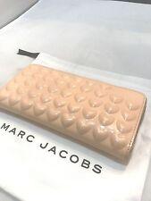 Marc Jacobs Hearts Continental Zip Around Clutch Wallet Purse Seashell Peach 215