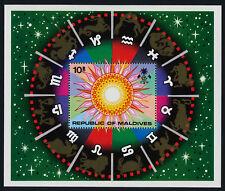 Maldives 1974 - Scott # 515 Zodiac Sun constellations - Souvenir sheet  MNH